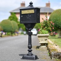 """Malabar Peppercorn"" Black Suffolk Post Box"