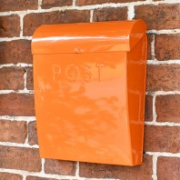 """Sunkissed Sienna"" Orange Contemporary Post Box"
