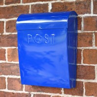"""Sapphire Lagoon"" Dark Blue Contemporary Post Box"