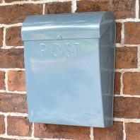 """April Showers"" Dove Grey Contemporary Post Box"