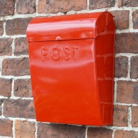 """Mediterranean Sunset""  Red Contemporary Post Box"