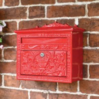 """Horncastle Abbey"" Red Wall Mounted Post Box"