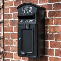The King George Post Box Slim In Black