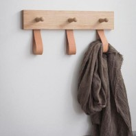 Leather Strap Coat Rack by Garden Trading