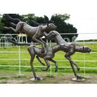 """""""Milani Pride"""" Leaping Cheetah Sculpture"""