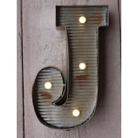Letter J Wall Light