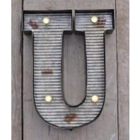 Letter U Wall Light
