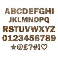Individual Metal Letters & Numbers- Rustic