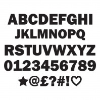 Individual Letters & Numbers- Black