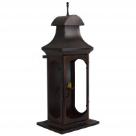 """Hanford House"" Rectangular Wall Lantern with Antenna Finial"