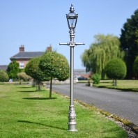 Silver Finish Harrogate Lamp Post 2.25m