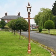 Rose Gold and Copper Finish Harrogate Lamp Post 2.25m