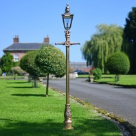 Gold and Brass Finish Harrogate Lamp Post 2.25m