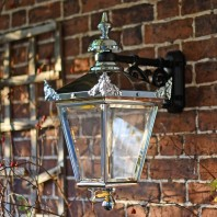 Bright Chrome Suspended Wall Lantern 63 x 47.5cm