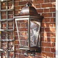 """Mosebly Manor"" Antique Black Wall Lantern"