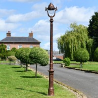 """Lord Octavius"" Antique Copper Finish Opulent Cast Iron Lamp Post 2.5m"