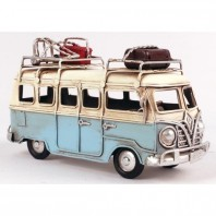 Light Blue VW Camper Van Scale Model
