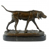 """Lockwood Park"" Bronze Dog on Plinth Statue"