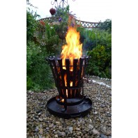Hereford Log Burner & Barbecue in Black Iron