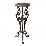 Long Gothic Rustic Cast Iron Side Table