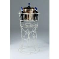 Deluxe 'Lynelle' Cream Floor Standing Wine & Glass Rack