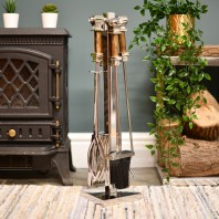 """""""Malborough"""" Stainless Steel and Wooden Companion Set 62cm"""
