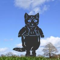 Black Master Kitten Silhouette