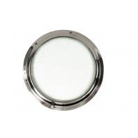 Bright Chome Door Porthole Kit With Frosted Glass