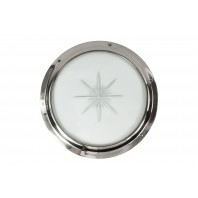 Bright Chrome Door Port hole Kit with Star Glass