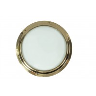 Solid Brass Door Porthole Kit With Clear Glass