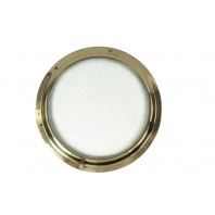 Solid Brass Door Porthole Kit With Frosted Glass