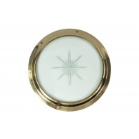 Solid Brass Door Porthole Kit With Star Glass