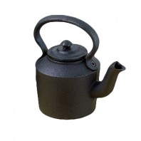 Medium Rustic Cast Iron Kettle (Decorative Purposes)