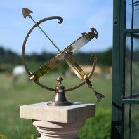 "Medium ""Profatius"" Antique Brass Armillary"