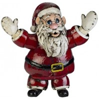 """Ol' Saint Nick"" Recycled Metal Father Christmas"
