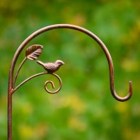 Metallic Bronze Bird & Leaf Shepherds Crook