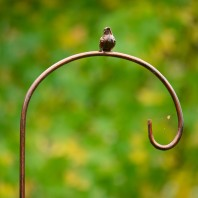 Metallic Bronze Bird Shepherd Crook