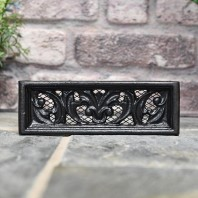 "Benbury"" 9"" x 3"" Cast Iron Air Brick With Internal Mesh"