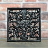 """Sanders Avenue"" 9"" x 9"" Cast Iron Ornate Air Brick"