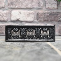 "Black Cast Iron Air Brick 9"" x 3"""