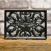 "Black Cast Iron Air Brick 9"" x 6"""