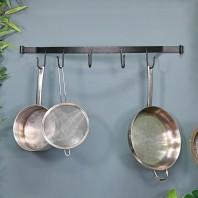 Blacksmith Wall Mounted Bowed Kitchen Pot & Pan Rack