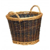 Small Mixed Tone Traditional Log Basket