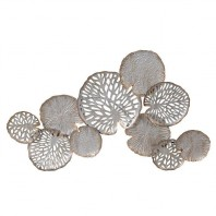 Brushed Gold & Chrome Lily Pads Wall Art