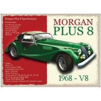 Morgan Plus 8 Metal Sign