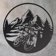 Black 'Motocross' Wall Art