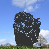 Black Mrs Hedgehog Silhouette
