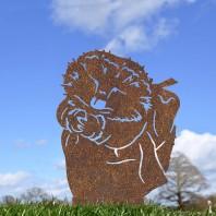 Rustic Mrs Hedgehog Silhouette