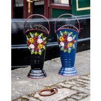 """Daintree"" Hand painted narrowboat coal hod or umbrella stand"