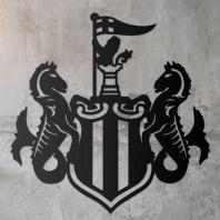 Newcastle 'Magpies' Wall Art- Black